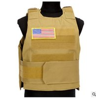 Wholesale bamboo tactical for sale - Group buy Plate Carrier Tactical Vest outdoor Sports Down Body Armor Vest CB Camo CS game Best Price Hunting Vest for cs hunting hiking treking sport