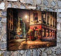 Wholesale arts painting scenery resale online - Street In London HD Art Print Original Oil Painting on Canvas high quality Home Wall Decor Multi Sizes Options City scenery C7