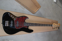 Wholesale quality left handed guitars resale online - High Quality FD Left Hand string Jazz black Electric Bass Electric guitar