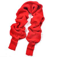 Écharpe en tricot de style coréen à la mode automne-hiver unisexe avec  châle à capuchon (rouge) d8c3aede589
