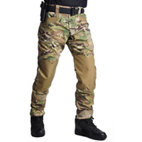 Wholesale tactical team resale online - Fashion New Mens Climbing Trousers Capris Tactical Waterproof Outdoor Camouflage Multi pocket Training Army Team Pants Size S XL