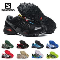 Wholesale outdoor army shoes hiking resale online - New arrivel Salomon Speed cross III CS Trail Running Shoes for Men black red blue Outdoor Hiking Athletic Sports Sneakers size