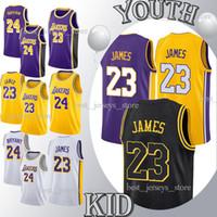 Wholesale ball online - 2019 Kids Kit Ball Los Angeles Kuzma jerseys Bryant High quality new Basketball Jerseys Design sweater YOUTH