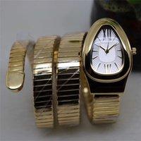 ingrosso vigilanza del serpente dell'argento del quarzo-Hot Sale Orologi moda creativa delle donne degli uomini in acciaio inox di alta qualità orologio al quarzo del serpente di modo oro rosa Gold Watch Orologio d'argento