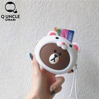 sevimli madeni para çantası silikonu toptan satış-Q AMCA Yaratıcı Sevimli Karikatür Mini Çanta Kızlar Hediye Silikon Moda Fermuar Coin Cüzdan Kawaii Çanta Cüzdan Kadın Çanta Kılıfı