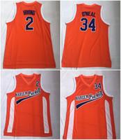herren kostümhemd großhandel-Uncle Drew Costume # 2 Kyrie Irving Jersey Harlem Eimer Film Film Orange Mens Genäht # 34 Shaquille O'Neal Basketball-Trikots ONea-Hemden