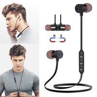 huawei akıllı telefonlar toptan satış-Bluetooth Kulaklıklar Manyetik Kablosuz Çalışan Spor Kulaklık Kulaklık BT 4.1 iPhone Huawei Samsung LG Için Mic ile MP3 K ...