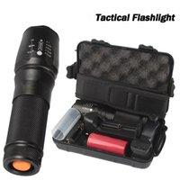 carregador de lanterna led à prova d'água venda por atacado-Nova X800 Tactical Lanterna XML T6 LED Zoom Lâmpada Da Tocha À Prova D 'Água Luz Da Bicicleta com Carregador de Bateria para Camping Caminhadas Reparação