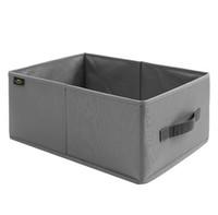 organizador de caixa de arquivo do escritório venda por atacado-bens domésticos caixa de armazenamento caixas de armazenamento Bins Oxford pano caixa de armazenamento de dobramento armazenamentos no local atacado fábrica de vendas diretas