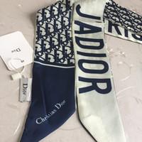 модные шорты оптовых-20 цвет оптовая продажа многоцелевой шелковый шарф мода шелк мужчины женщины лента для волос сумочка декоративные шелковый шарф марки напечатаны шарф 120 * 8 см