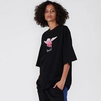 mosca del cerdo al por mayor-19FW VETEMENTS cerdo del vuelo camiseta impreso historieta linda camiseta de los hombres de la calle Mujeres monopatín de verano de manga corta Camiseta casual Pareja HFYMTX607