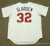 baseball jerseys minnesota groihandel-Günstige Custom DAN GLADDEN Minnesota Genäht 1991 Majestic Vintage Home Baseball Jersey Retro Herren Trikots Laufen