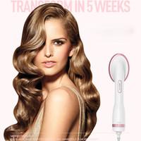 schnelle heißluft großhandel-Lescolton Haartrockner Multifunktionales elektrisches Haar Kamm Haarglätter Heißluftbürste Trocknen Schnell Kostenloser Versand DHL