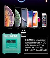 iphone sprint verizon großhandel-Brand New und Hot RSIM 14 die neueste Version RSIM Freischaltkarte für alle iPhone IOS 12 Auto-Freischaltung 4G LTE X XS MAX