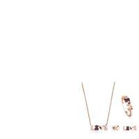 ingrosso orecchini in oro placcati oro-100% 925 placcato in argento sterling 18k oro rosa AMORE multi-elemento della pietra preziosa collana d'amore anello orecchini asimmetrici piercing orecchini