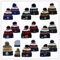 bonnet brodé achat en gros de-Calgary Flames Edmonton Oilers d'hiver Bonnet chapeaux de hockey sur glace en tricot Chapeau brodé Bonnet NEW JERSEY Buffalo Sabres Stitched Chapeaux Si une