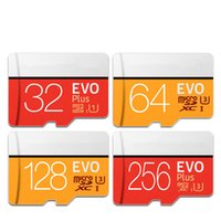 micro sd cartão de memória flash 64gb venda por atacado-Cartão de Memória de alta velocidade Micro SD 32 GB Classe10 EVO Plus 64 GB 128 GB 256 GB Cartão TF Flash USB Cartão Para Gravador DVR