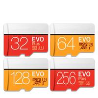 256 gb mikro toptan satış-Yüksek hızlı Hafıza Kartı Micro SD 32 GB Class10 EVO Artı 64 GB 128 GB 256 GB TF Kart Flaş USB Kart Kaydedici DVR Için