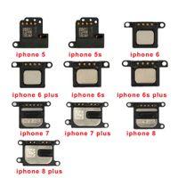 altavoz del oído del auricular del iphone 5s al por mayor-50pcs altavoz del auricular del oído para el iPhone 5 5s 6 7 8 6S Plus 7G 6G 8G sonido cable flexible escuchar piezas de repuesto