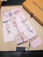Wholesale printing handkerchief resale online - Designer Small Scarf Head Neck Scarf Foulard Femme Bandana Elegant Women s Hair Tie Band Wrap Handkerchief Sjaal