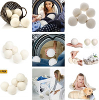 Wholesale product organic for sale - Newest Wool Dryer Balls Reduce Wrinkles Reusable Natural Fabric Softener Large Felted Organic Clothes Dryer Ball Laundry Product