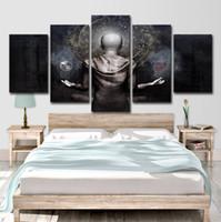 pinturas abstractas de buda al por mayor-Art HD Impreso Impresiones de lienzos de 5 piezas Pinturas de Buda abstractas para sala de estar en la pared