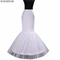 Wholesale brides petticoats resale online - In Stock Wedding Dress Bridal Gown Fishtail Mermaid Wedding Petticoat Underskirt In Stock Bride Use
