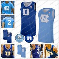 2020 100TH Retro Basketball Jerseys Custom Duke Blue Devil UNC North Carolina Tar Heels Vernon Carey Jr. Cole Anthony Tre Jones Brooks 4XL
