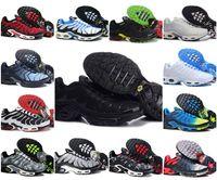 tailles grandes tailles achat en gros de-Vente en gros 2019 TN PLUS Baskets à la Mode Originale TN AIR AIR Chaussures Vente TOP Qualité Pas Cher France PANIER TN ReQUIN ChauSSures Taille 40-46