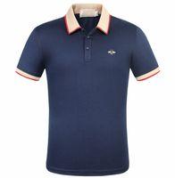 polos hoher entwurf großhandel-Hochwertige Polos Marke Dekoration Herren Polo Klassische Marke Polo Shirt Little Bee Zeichen Stickerei Design 100% Baumwolle Business Casual Polo