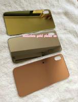 24ct gold gehäuse großhandel-original für iphone x batterieabdeckung tür hinterglas gehäuse ersatzglas 24ct gold rose gold mit aufkleber