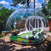 Wholesale transparent inflatable bubble tent for sale - Group buy outdoor clear camping bubble tent clear inflatable lawn tent bubble house hotel transparent tent party tents Transparent Viewing Inflatable