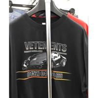 ingrosso corti corti-Vetements T Shirt Uomo Donna Racing Streetwear Xxxtentacion OVERSIZE Harajuku Top Tees Maniche corte FOG Funny Tshirts