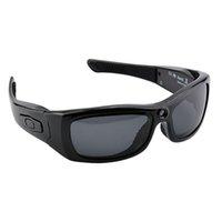 sürüş rekoru kamera toptan satış-Full HD 1080 P Akıllı Gözlük DVR Kamera Güneş Gözlüğü Bluetooth Kulaklık Sürüş Bisiklet Açık Spor için Video Kayıt Mikrofon