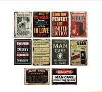 Wholesale tin letter signs for sale - Group buy Tin Metal Sign Warning Letter Wall Art Retro TIN SIGN Old Wall Metal Painting ART Bar Man Cave Pub Restaurant Home Decoration