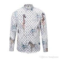 erkekler moda gündelik gömlek tasarımı toptan satış-Medusa 3D baskı erkek gömlek moda tasarım erkek uzun kollu casual gömlek Asya boyutu 2XL