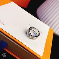 ingrosso je gioielli-Gioielli di lusso gioielli da donna anelli in argento sterling anello da uomo in oro bianco e diamanti lettere fedi nuziali love ring luxury fashion je