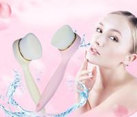 limpadores de cosméticos venda por atacado-Escova Facial macia Fibra superfina Escova de Limpeza de Poros Profundos Nylon Escova de Lavar o Rosto com Cabo Longo