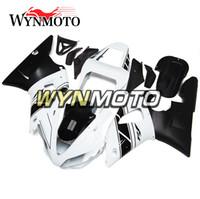 conjunto de carenagem branca yzf r1 venda por atacado-Novas caravanas vmotorcycle para yamaha yzf 1000 r1 2000 2001 injeções de moto de injeção de plástico ABS yzf 1000 r1 cobre completo conjunto branco preto