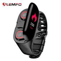 relógio elegante lemfo venda por atacado-Lemfo M1 Mais Novo Ai Relógio Inteligente Com Bluetooth Fone De Ouvido Monitor de Freqüência Cardíaca Pulseira Inteligente Longo Tempo de Espera Esporte Relógio Homens