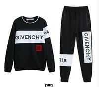 yüksek moda bayan süveter toptan satış-19 Givenchy eşofman moda erkek tasarımcı eşofman takım sokak popüler hip hop erkek kadın kazak yüksek kaliteli pamuk rahat pantolon
