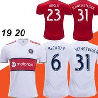 üniforma şikago toptan satış-Dışarıda Yeni 2019 MLS Chicago Futbol Jersey 19 20 Ev beyaz Schweinsteiger Frankowski Mihailovic McCarty Nikolic Futbol Gömlek Futbol forması