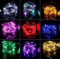 guirlande lumineuse achat en gros de-2m 20leds batterie fil de cuivre guirlande féerique LED guirlande lumineuse lumières de vacances éclairage pour arbre de noël décoration de fête de mariage