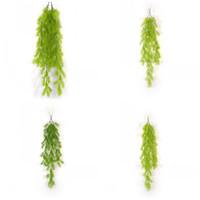 decoracion artificial colgando plantas al por mayor-Simulación Guirnaldas De Plástico Color Verde Artificial Jardín Creativo Colgante de Pared Decoración Ivy Plants Party Supplie 5 9ms E1