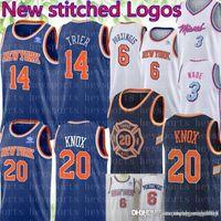 46107f415 New York Allonzo 14 Trier Knicks Jersey Mens Kevin 20 Knox Kristaps 6  Porzingis Basketball Jerseys stitched Logos Dwyane 3 Wade