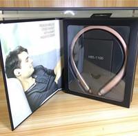 ingrosso toni bluetooth-HBS 1100 Tone Platinum HBS-1100 Cuffia stereo senza fili Sport Neckband Cuffie Supporto NFC Bluetooth HIFI Cuffie per iphone 7 6s Plus