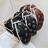 Wholesale korean headband for girls resale online - Vintage Headband Flower Knotted Hair Band for Women Fashion INS Korean Girls Hair Accessories Fairy Simple Striped Hairband ZFJ724