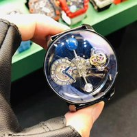 Wholesale swiss watches leather for sale - Group buy Precious Mens Wrist Watch Swiss Quartz Movement Size mmx18mm Blue light Phantom Crystal Glass Steel Leather Strap Pin Buckle JIEKEBAO