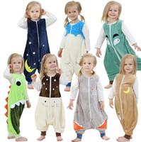 Wholesale baby children rompers for sale - Group buy Baby Rompers Newborn Winter Pajamas Kids Ins Sleep Bag Children Sleeveless Sleepsuits Sleepwear Baby Blanket Romper Home Wear KKA6391