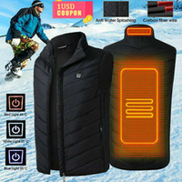 Men Women Electric Heated Vest Sleeveless Waistcoat Coat USB Thermal Clothing Winter Heating Jacket Outerwear Male Heated Vest